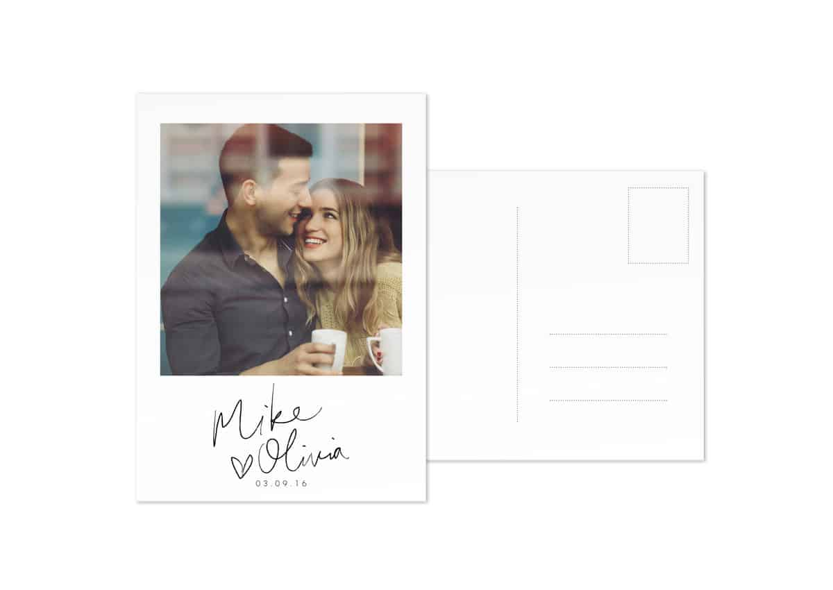 modern rustic save the dates