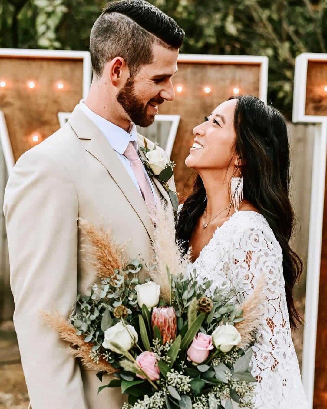 Affordable Wedding Dresses Online Bohemian Lace Bell Sleeve Maxi Dress Nancy Rose Photography 2