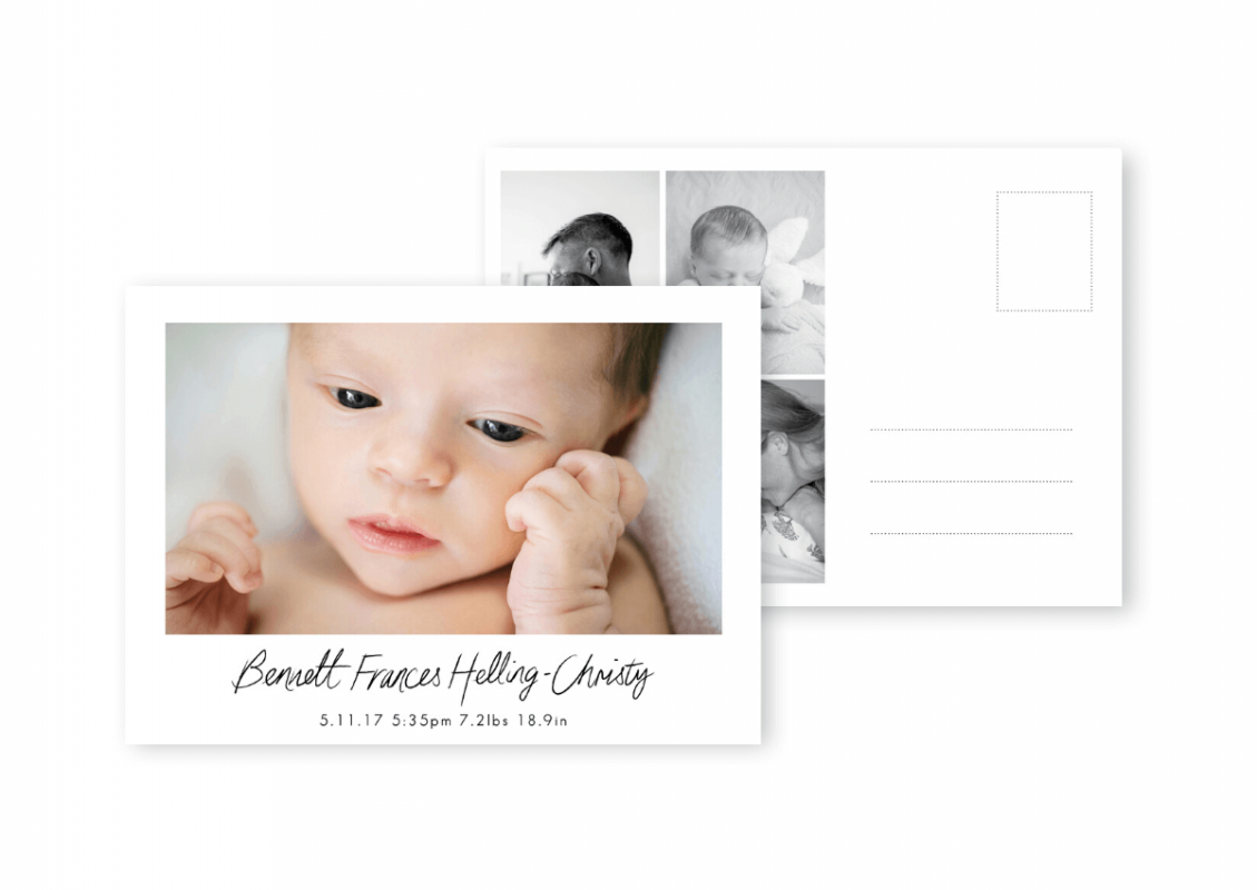 Baby Thank You Cards Baby Photo Birth Announcements For the Love of Stationery Red Rooster Photos (1)