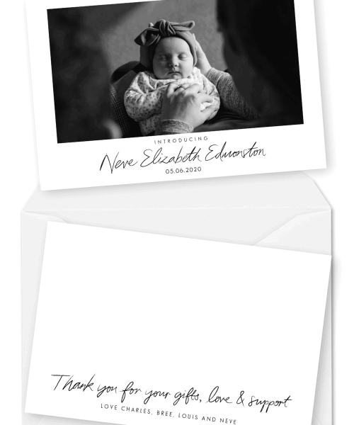 Baby Thank You Cards Newborn Birth Announcements For the Love of Stationery Jo O'Kelly Photography (1)