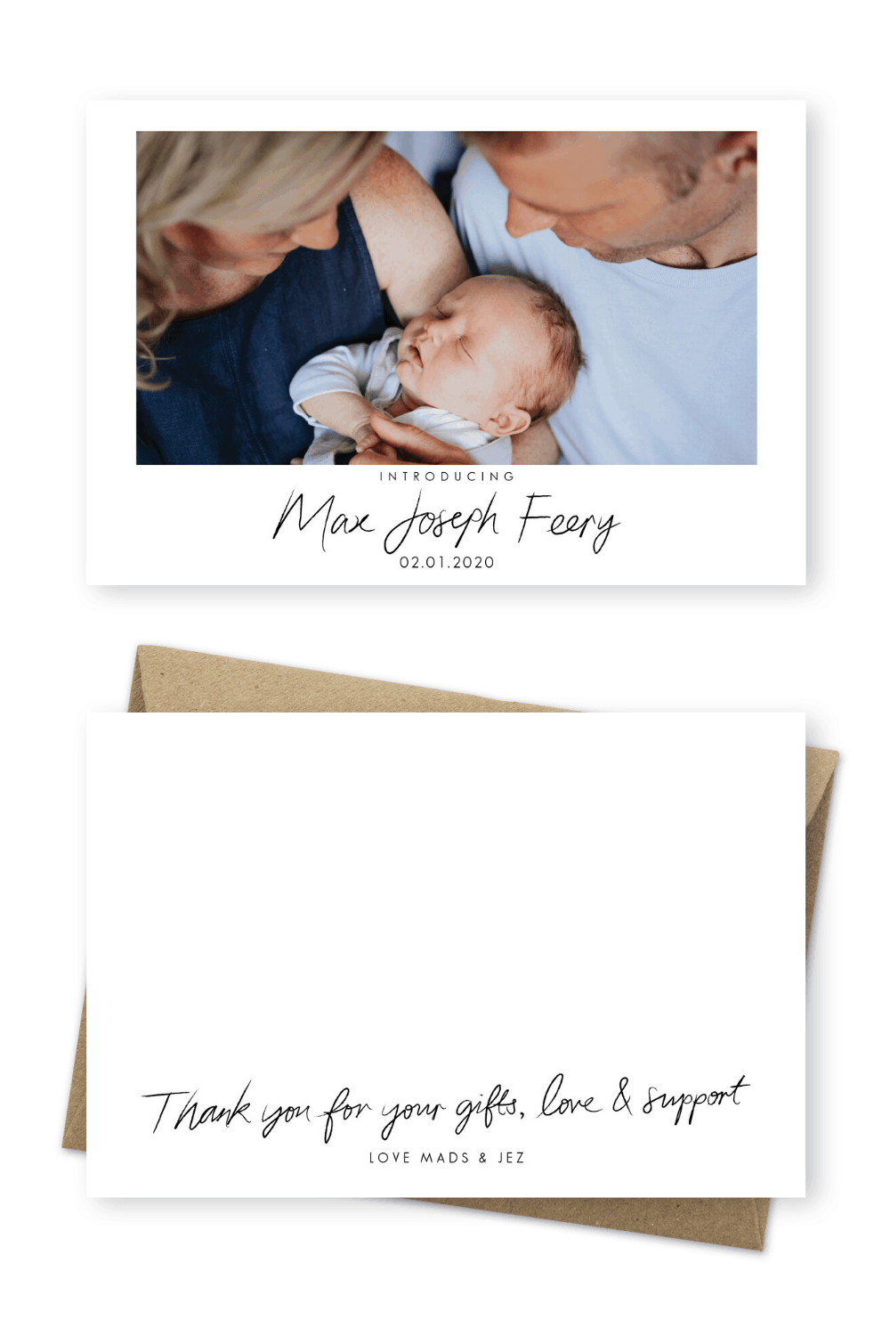 Baby Thank You Cards Newborn Birth Announcements Madeleine Chiller Photography