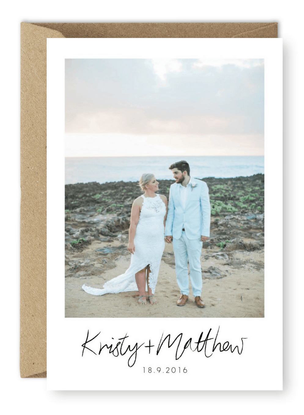 Beach Wedding Thank You Cards Inspiration