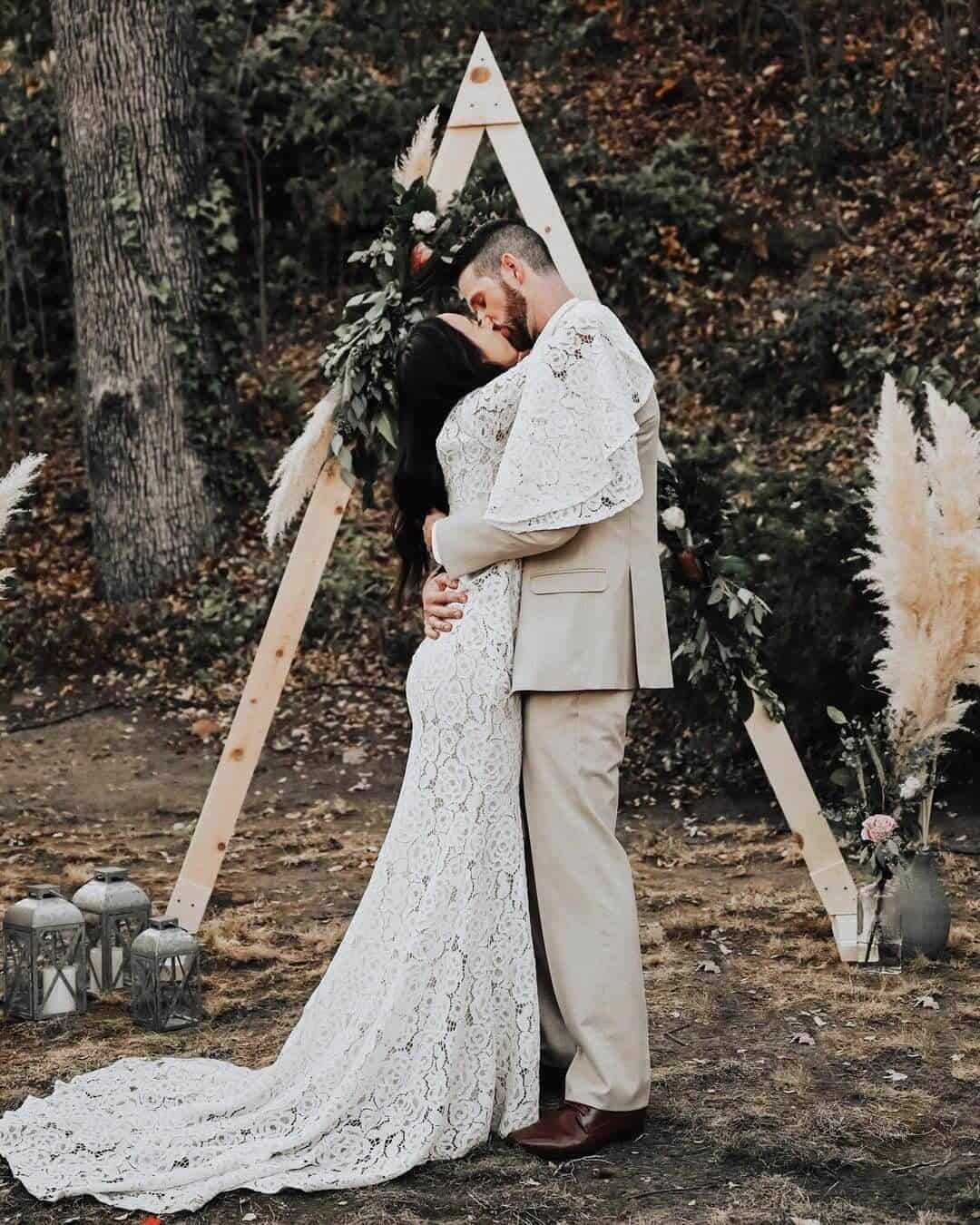 Bohemian Lace Bell Sleeve Maxi Dress Affordable Wedding Dresses Online Nancy Rose Photography