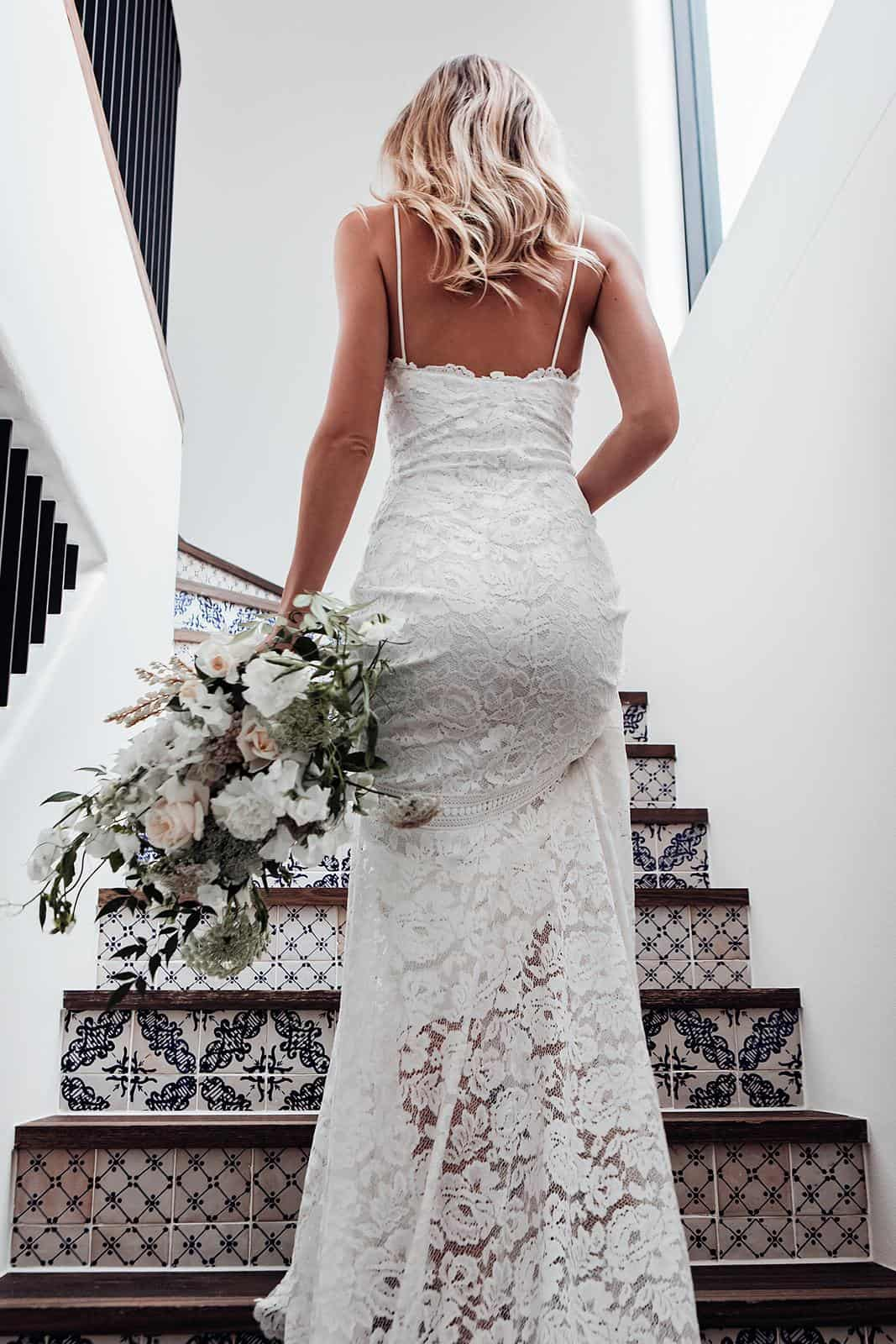 Bohemian Wedding Dress Inspiration French Lace Detail Dress Handmade by Grace Loves Lace Hart