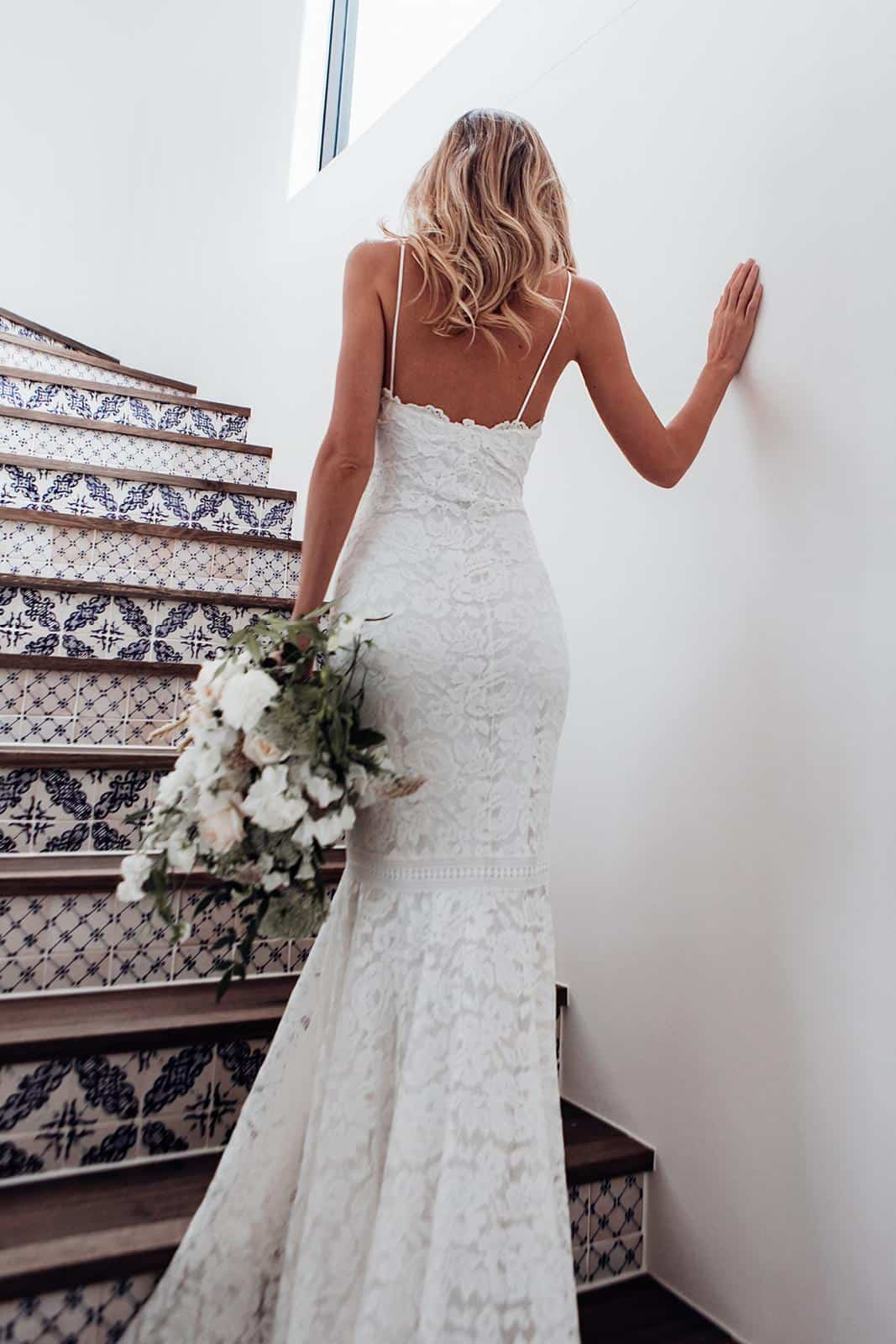 Bohemian Wedding Dress Inspiration French Lace Dress Handmade by Grace Loves Lace Hart