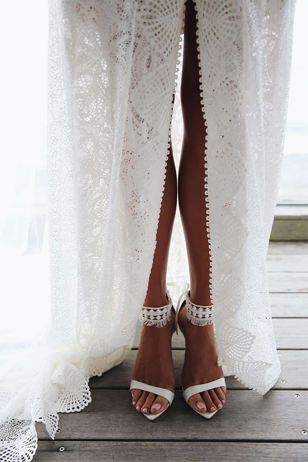 Bohemian Wedding Dress Inspiration French Lace Dress Handmade by Grace Loves Lace Mai