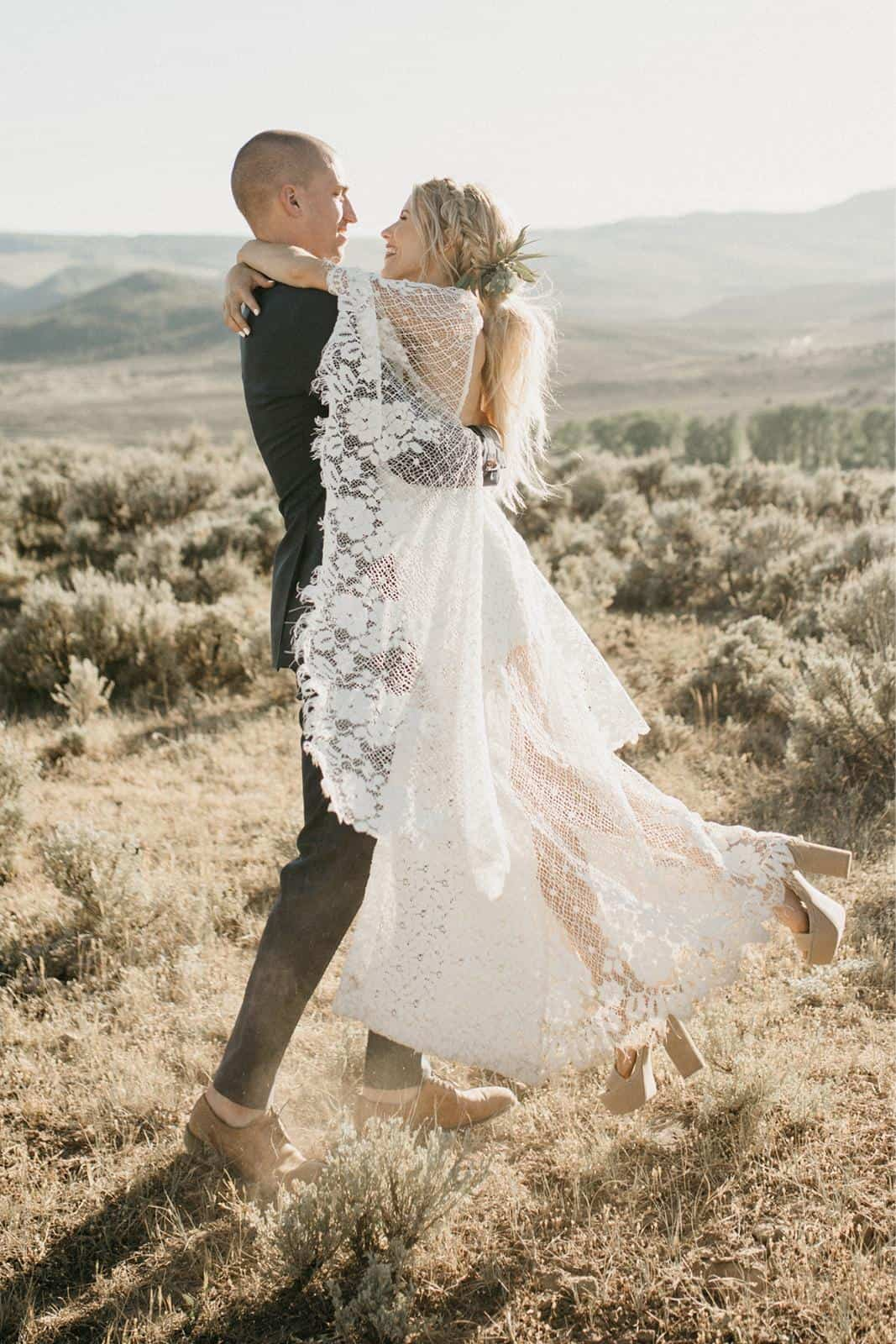 Bohemian Wedding Dress Inspiration French Lace Gown Handmade by Grace Loves Lace Verdelle 2.0