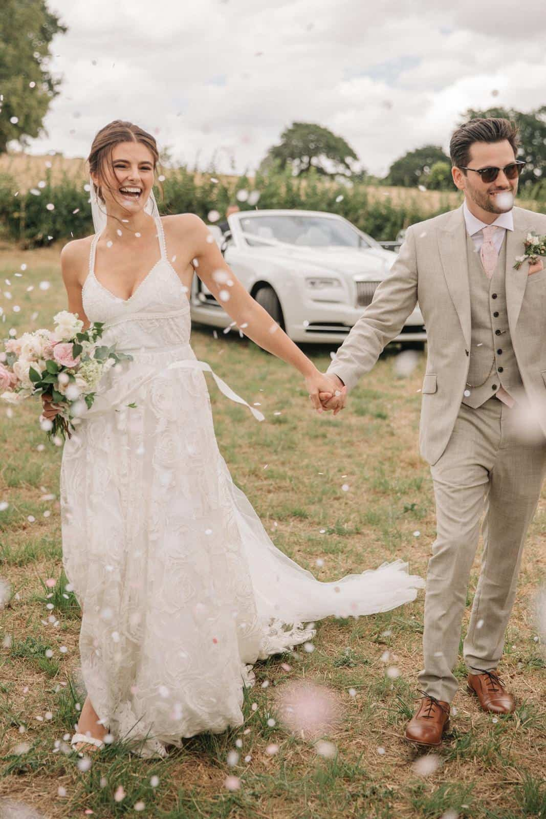 Bohemian Wedding Dress Inspiration French Lace Gowns Handmade by Grace Loves Lace Megan