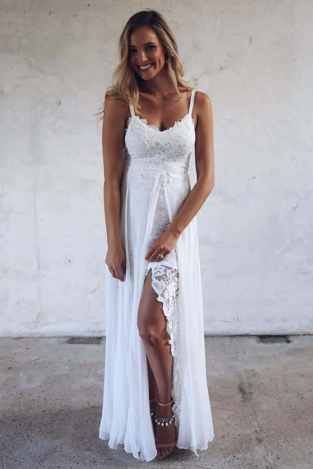 Bohemian Wedding Dresses Inspiration French Lace Dresses Handmade by Grace Loves Lace Hollie 2.0