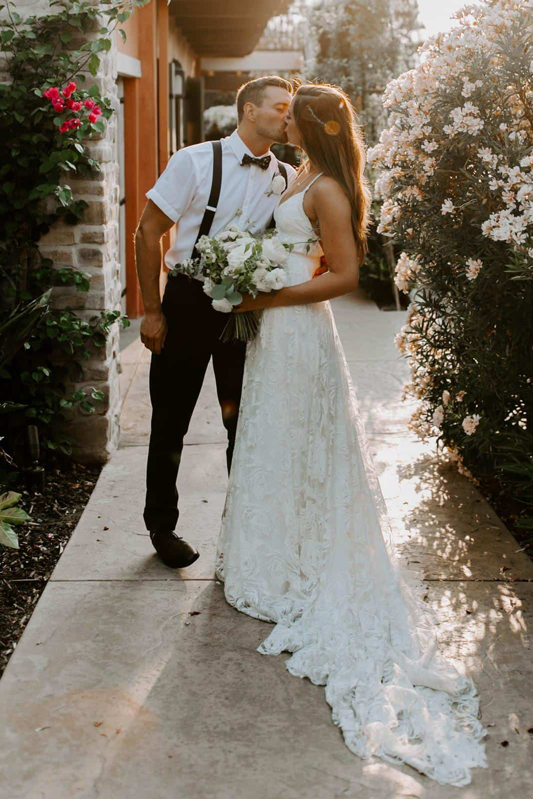 Bohemian Wedding Dresses Inspiration French Lace Gown Handmade by Grace Loves Lace Megan