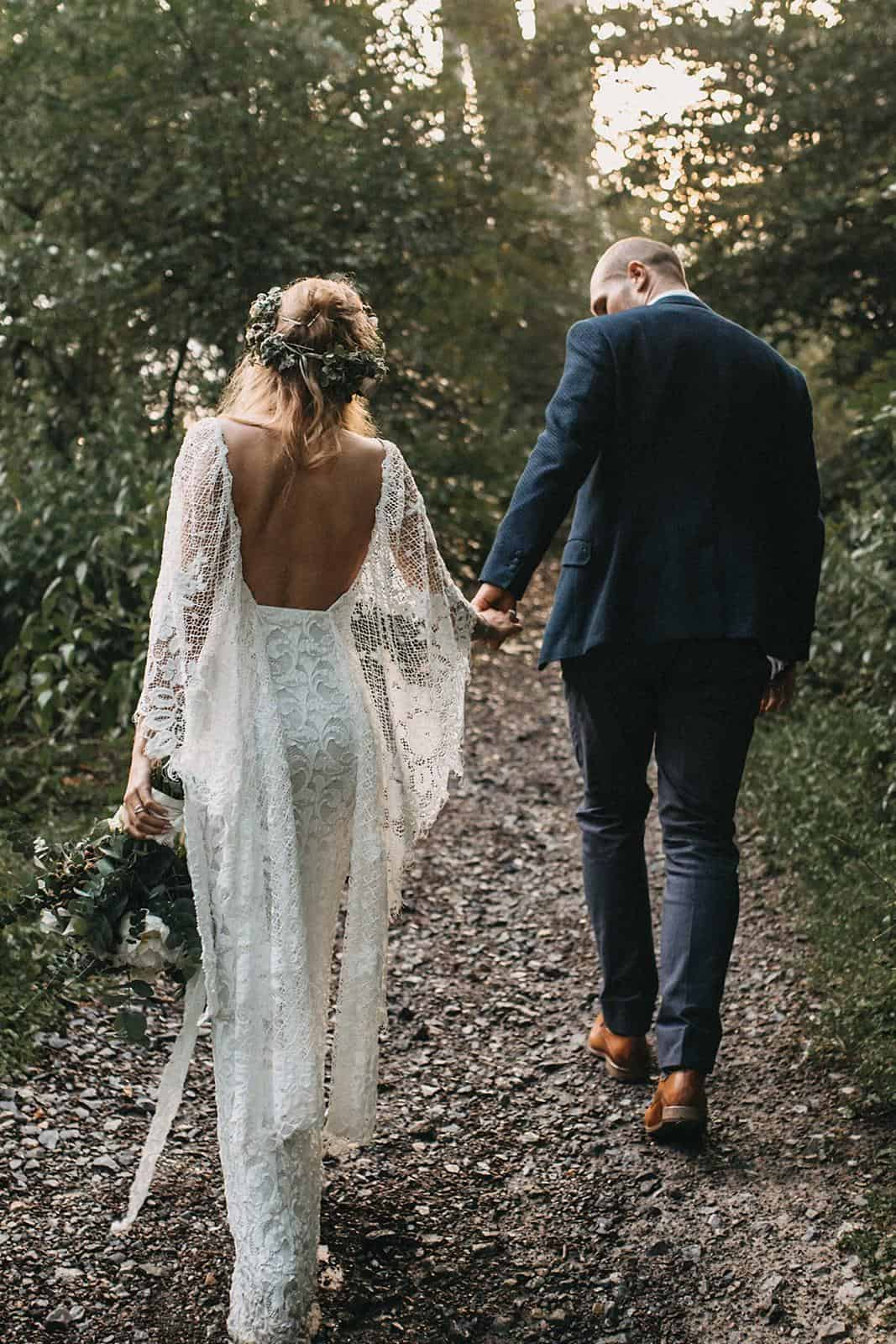 Bohemian Wedding Dresses Inspiration French Lace Gown Handmade by Grace Loves Lace Verdelle 2.0