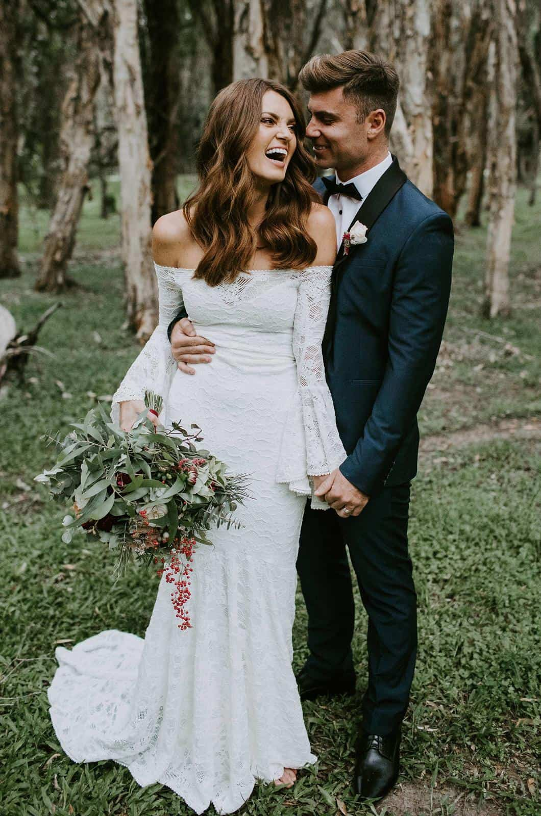 Boho Wedding Dress Inspiration French Lace Bridal Gowns Handmade by Grace Loves Lace Sloane