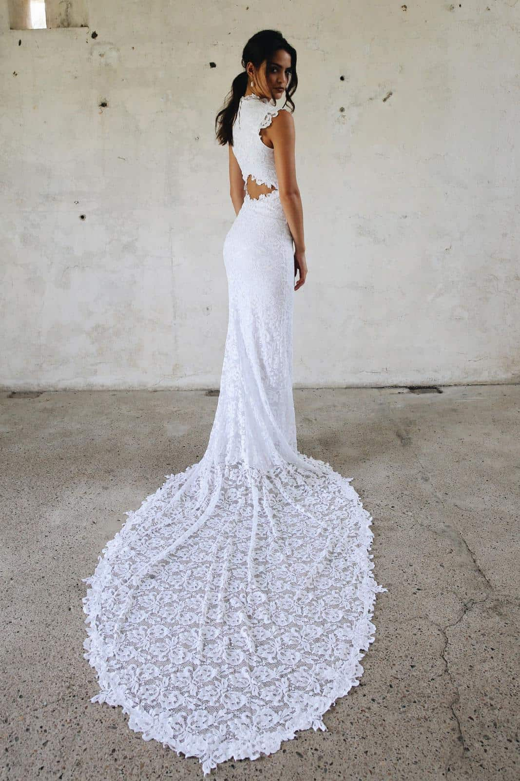 Boho Wedding Dress Inspiration French Lace Dresses Handmade by Grace Loves Lace Renata