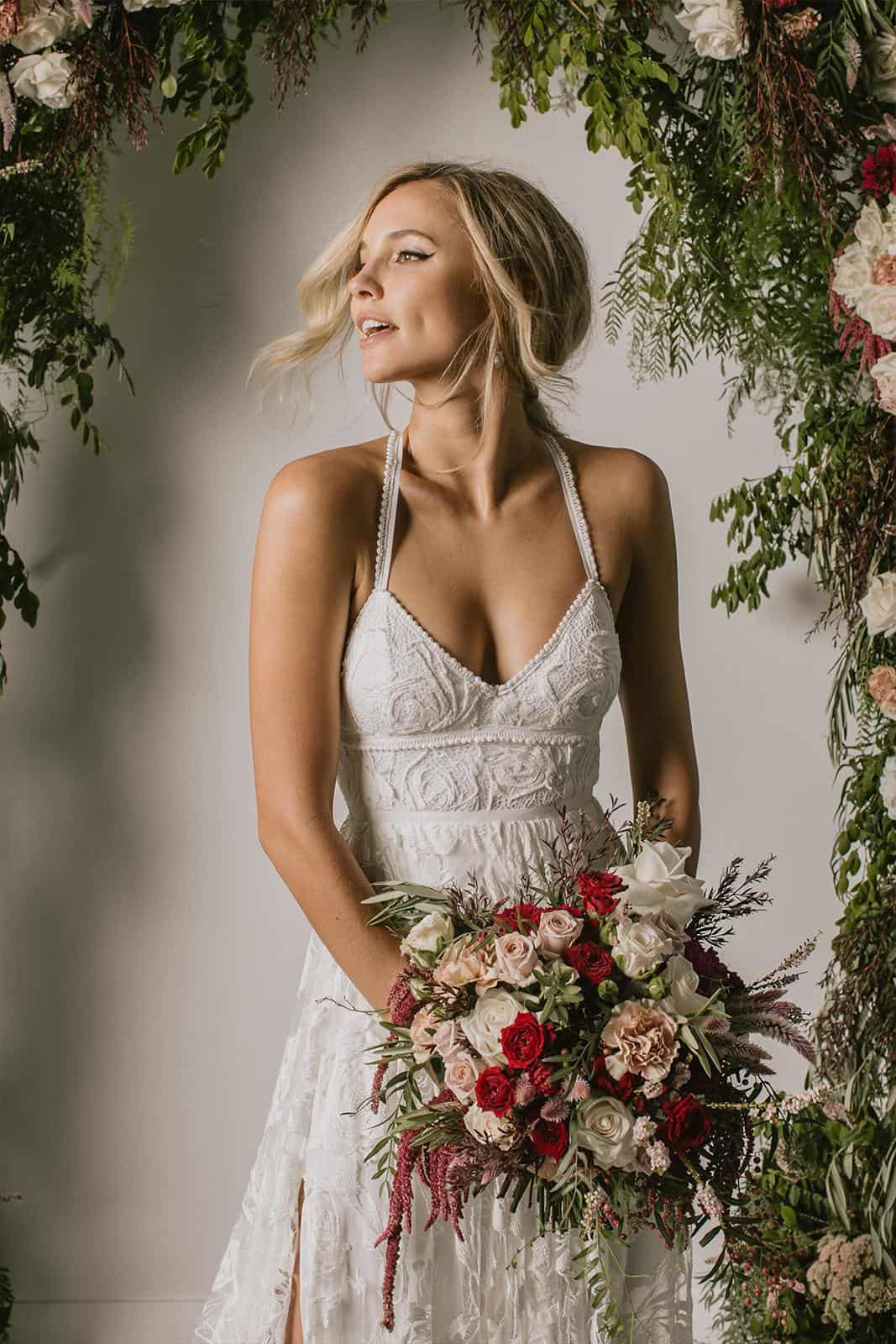 Boho Wedding Dress Inspiration French Lace Gowns Handmade by Grace Loves Lace Megan