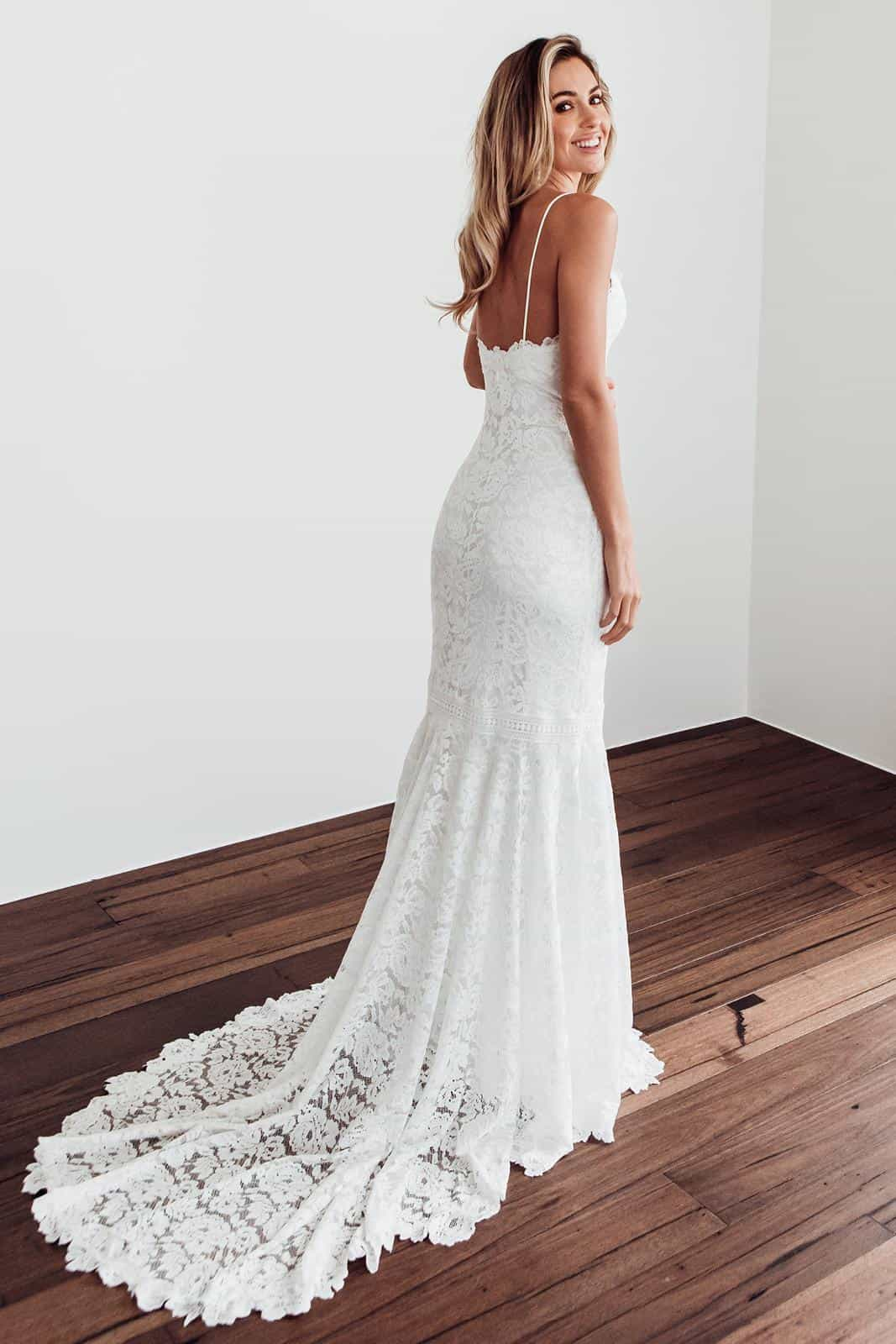 Boho Wedding Dresses Inspiration French Lace Dress Handmade by Grace Loves Lace Hart