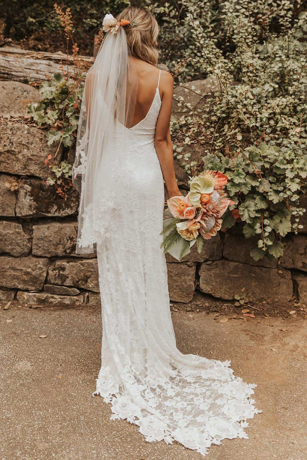 Boho Wedding Dresses Inspiration French Lace Dress Handmade by Grace Loves Lace Lottie