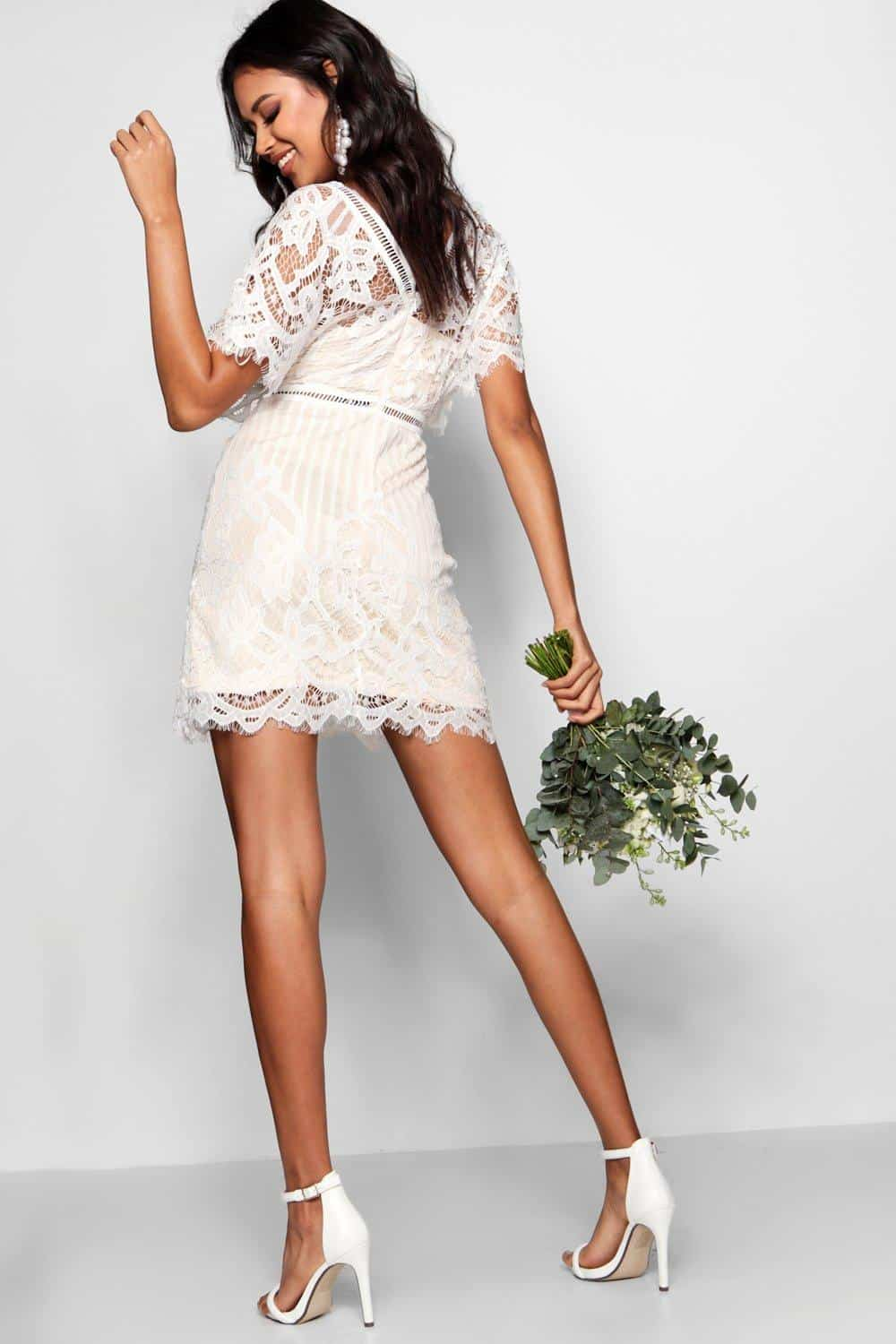 Bridal Shower Dress Bohemian Boho All Over Lace Bodycon