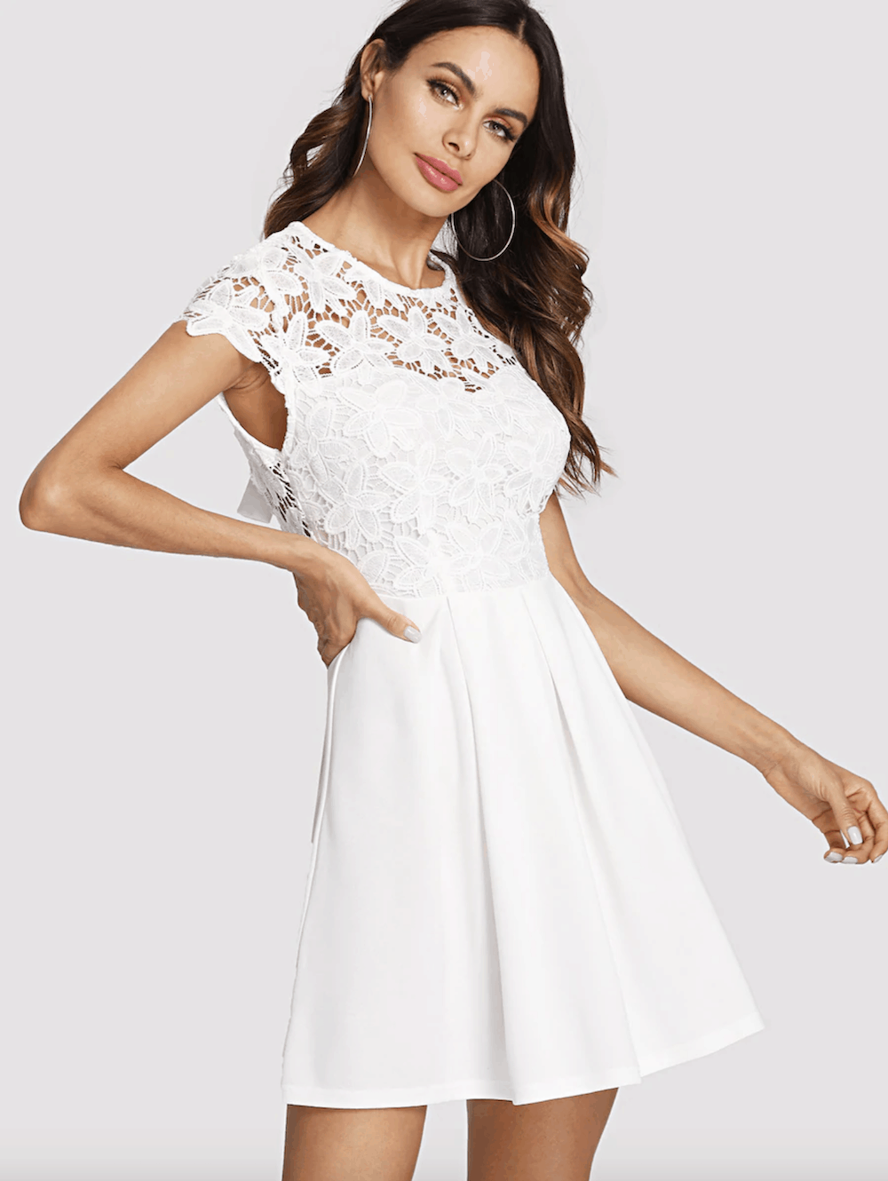 605cd206be4 White Lace Wedding Shower Dress - Gomes Weine AG