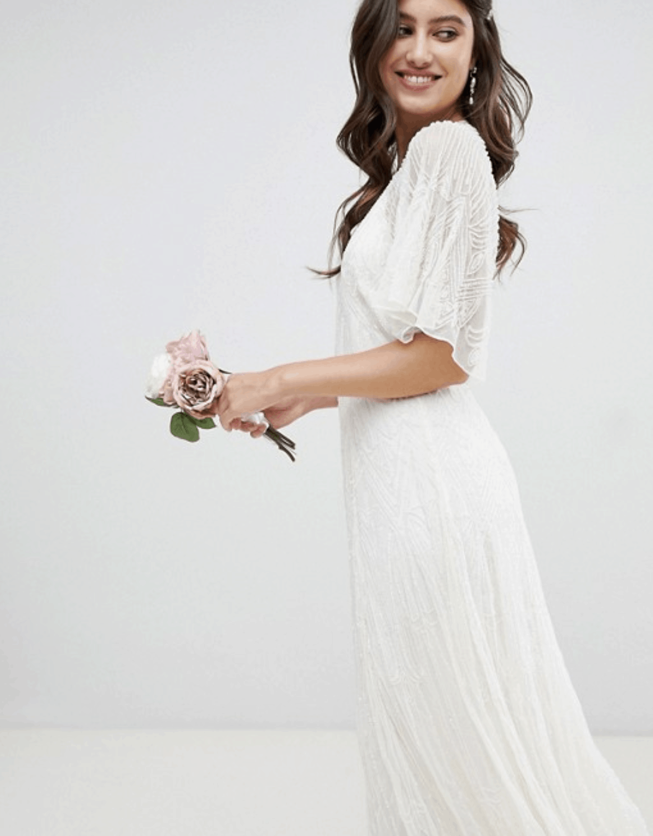 Cheap Affordable Bridal Gown and Wedding Dresses ASOS Edition Deco Embellished Wedding Dress