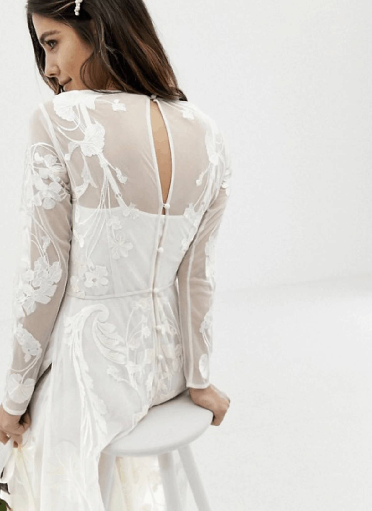 Cheap Affordable Bridal Gown and Wedding Dresses ASOS Edition Nouveau Embroidered Wedding Dresses