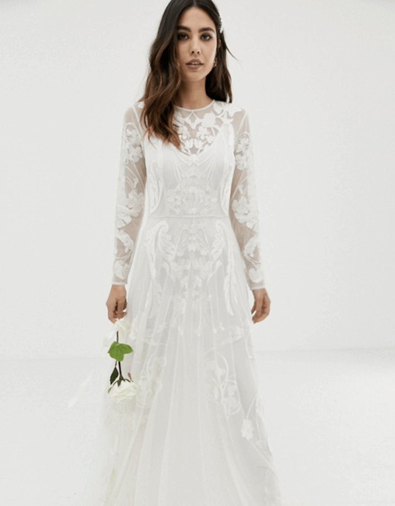 Cheap Affordable Bridal Gowns and Wedding Dress ASOS Edition Nouveau Embroidered Wedding Dresses