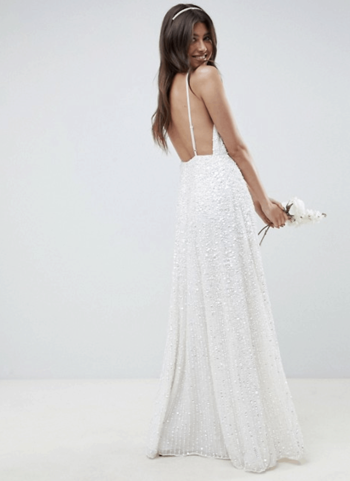 Cheap Affordable Bridal Gowns and Wedding Dress ASOS Edition Sequin Cami Wedding Dresses