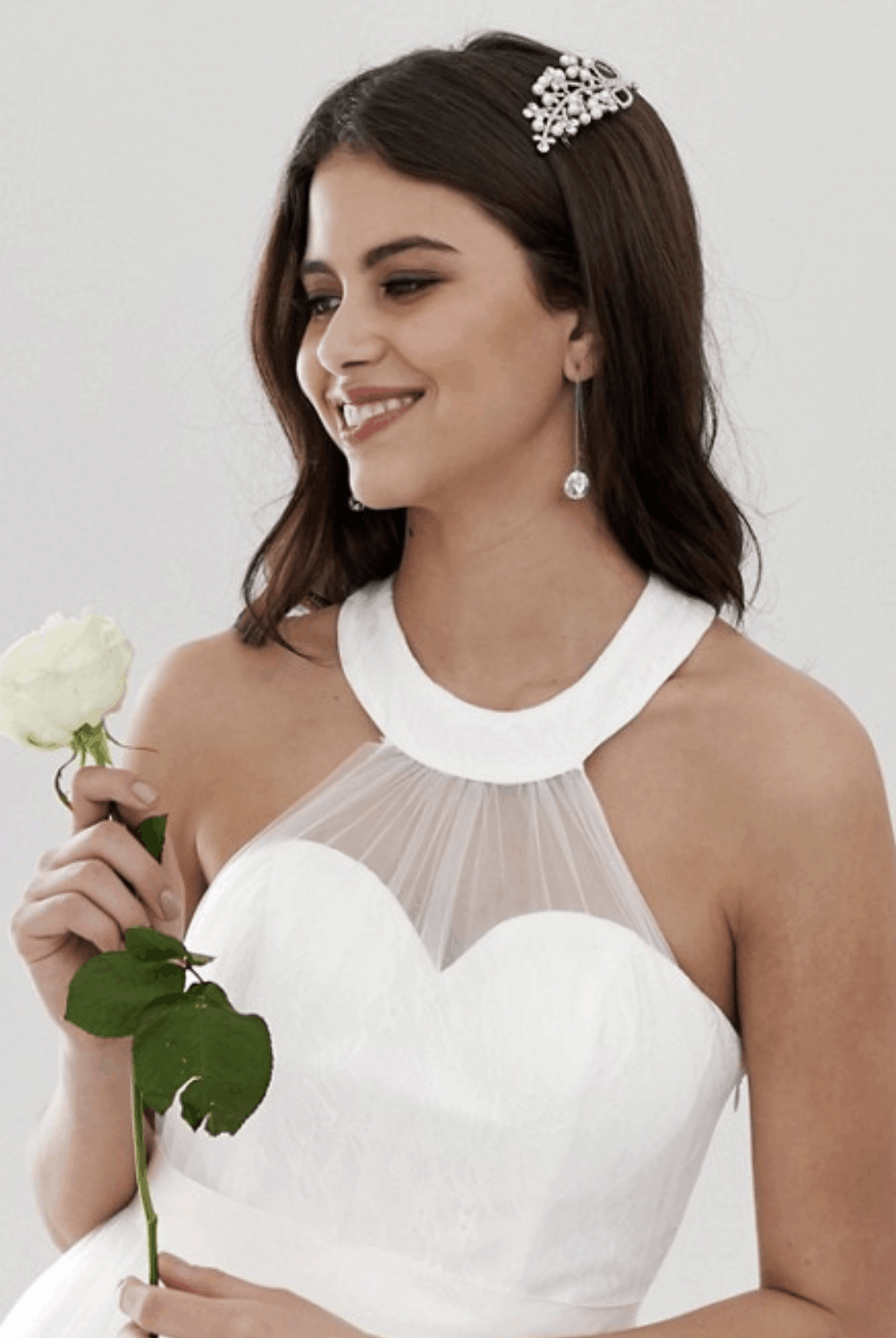 Cheap Affordable Bridal Gowns and Wedding Dress Y.A.S Sweetheart Tulle Maxi Wedding Dress