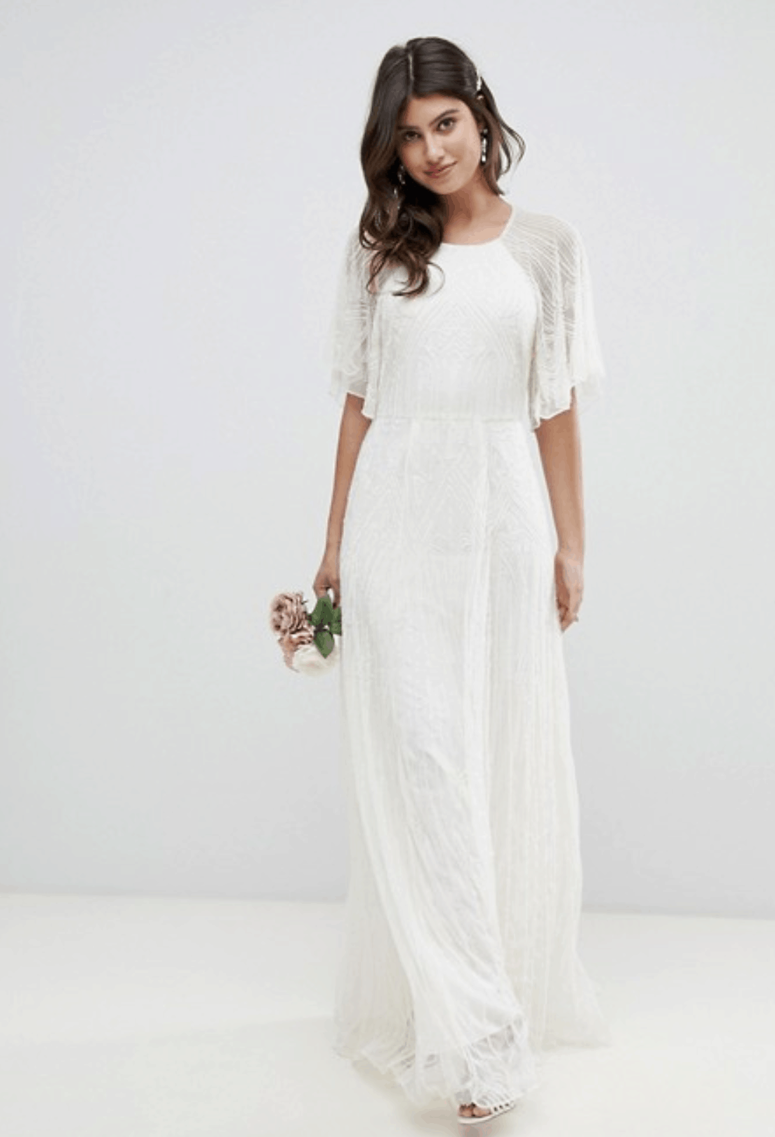 Cheap Affordable Bridal Gowns and Wedding Dresses ASOS Edition Deco Embellished Wedding Dress