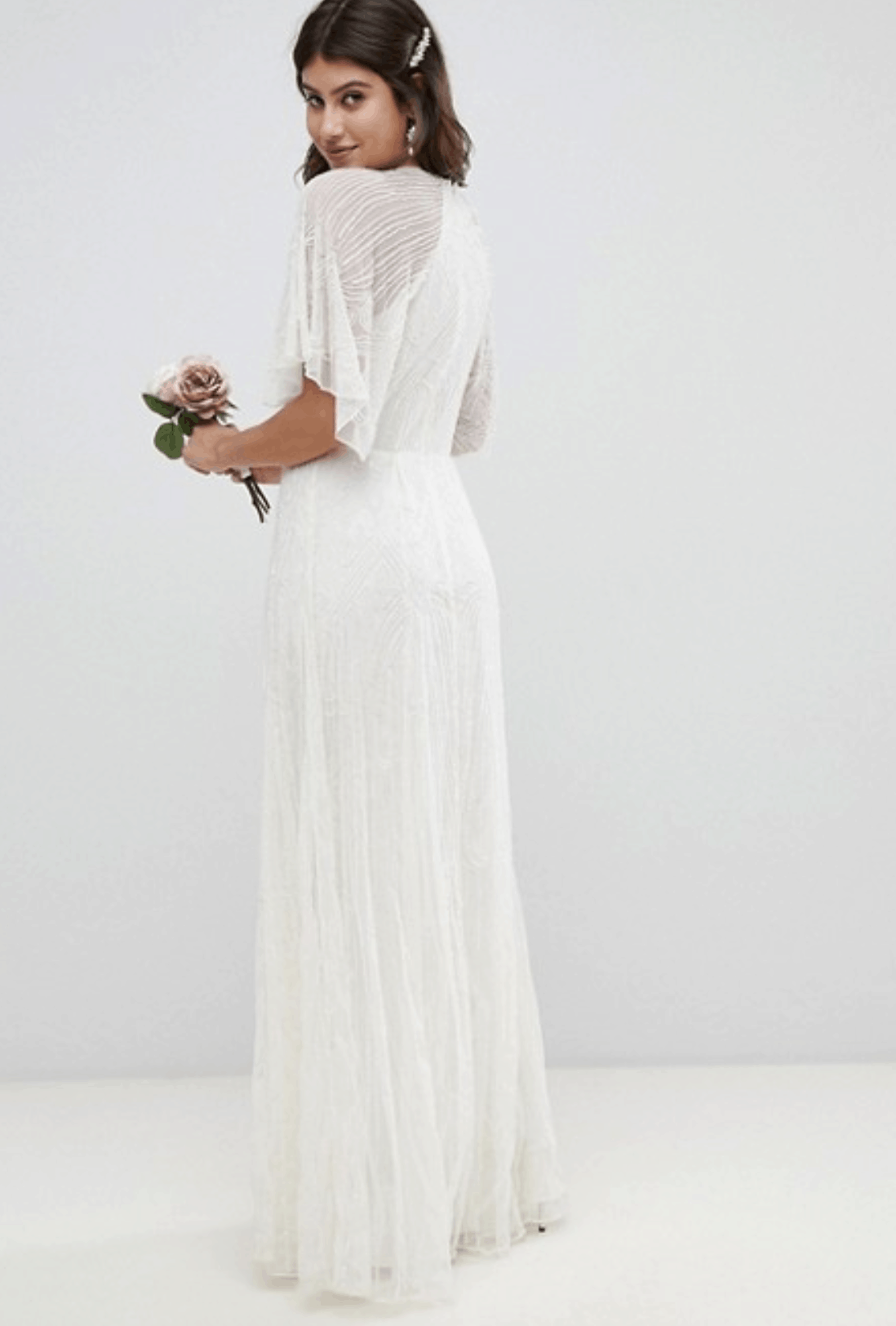Cheap Affordable Bridal Gowns and Wedding Dresses ASOS Edition Deco Embellished Wedding Dresses
