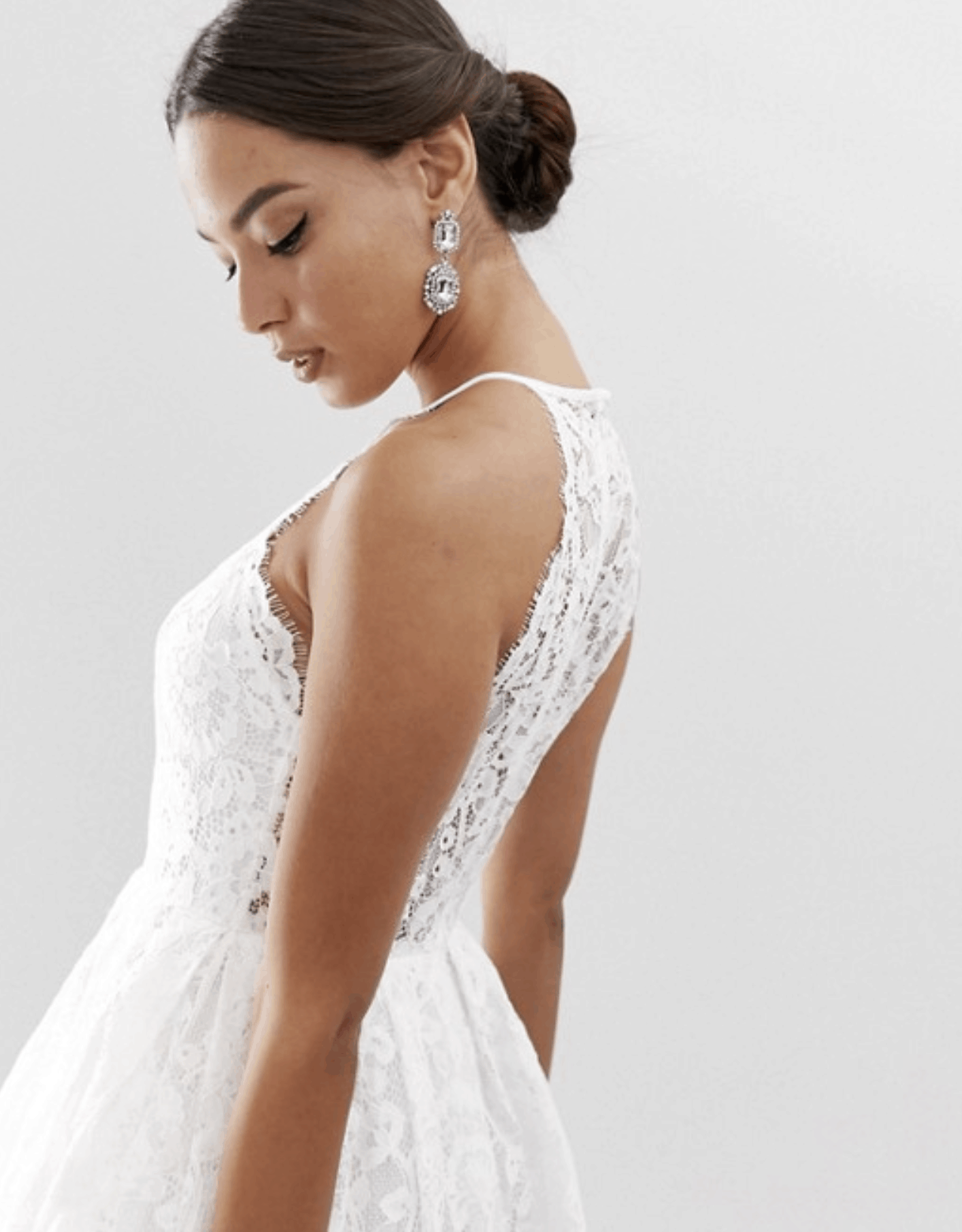 Cheap Affordable Bridal Gowns and Wedding Dresses ASOS Edition Lace Halter Neck Maxi Wedding Dress