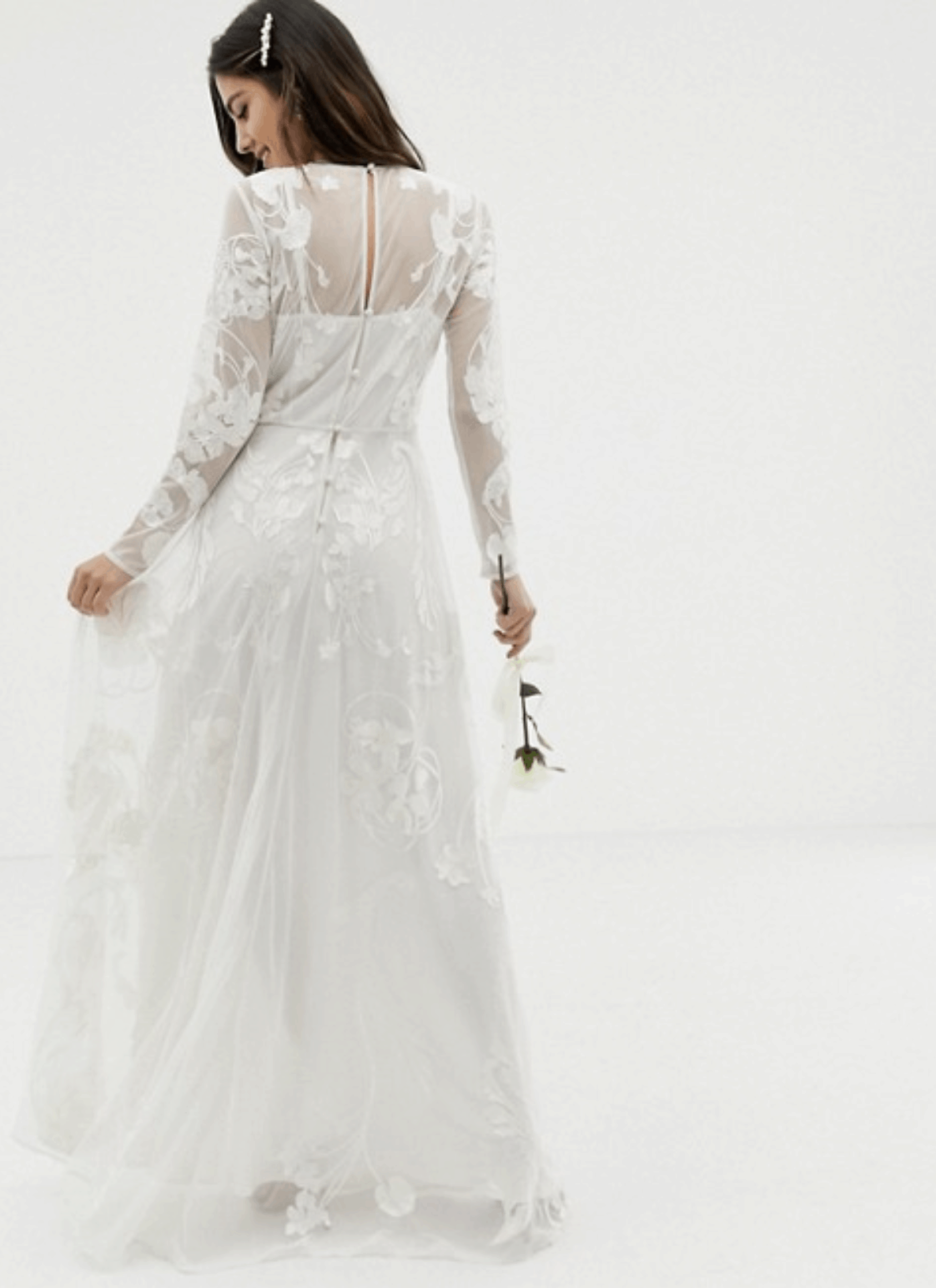 Cheap Affordable Bridal Gowns and Wedding Dresses ASOS Edition Nouveau Embroidered Wedding Dresses