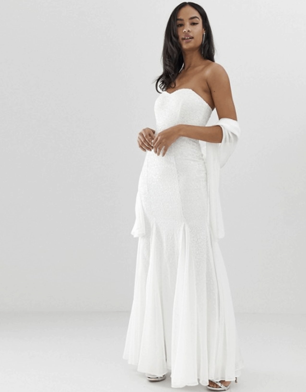 Cheap Affordable Bridal Gowns and Wedding Dresses City Goddess Bridal Bandeau Fishtail Maxi Dress