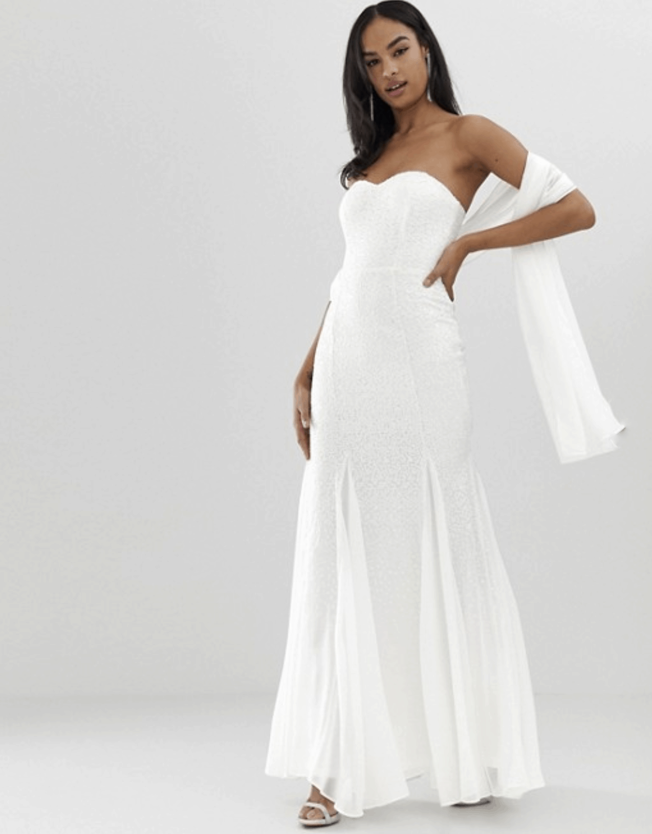Cheap Affordable Bridal Gowns and Wedding Dresses City Goddess Bridal Bandeau Fishtail Maxi Dresses