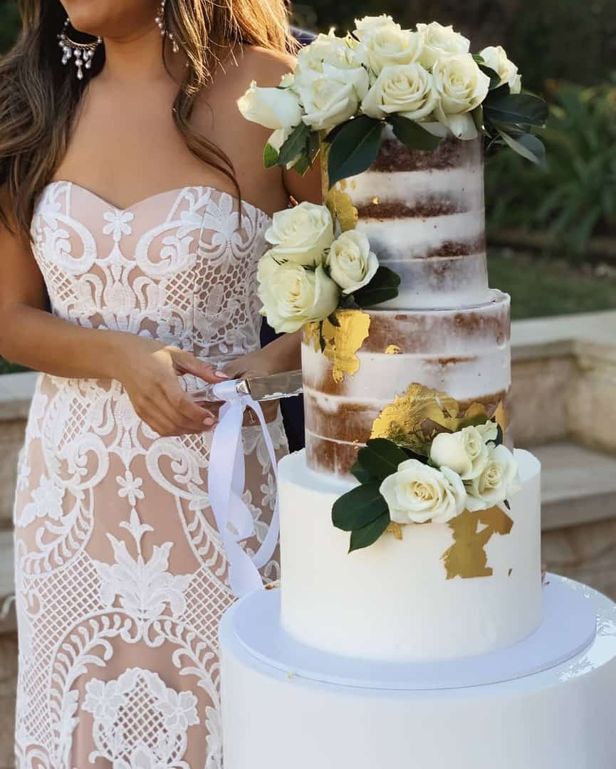 Cheap Affordable Wedding Dresses Embroidered Lace Overlay Train Showpo Bridal Gown Brides Tight Wedding Budget 5