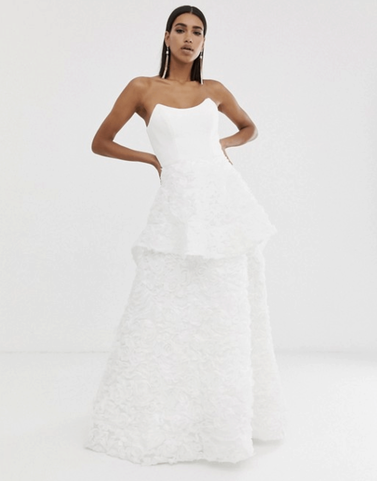 Cheap Wedding Dresses Affordable Bridal Gowns ASOS Sweetheart Lace Gown 2