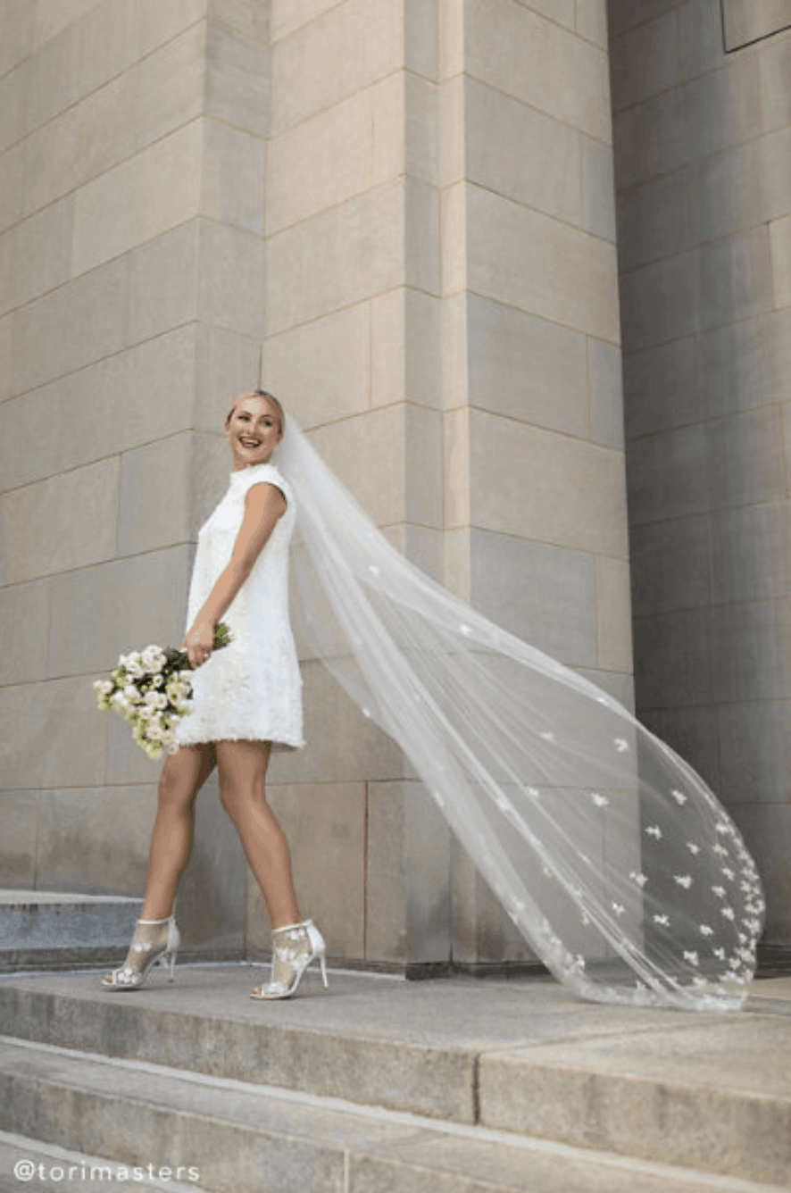 City Hall Wedding Dresses BHLDN Tori Masters Whispers Echoes Roma Gown