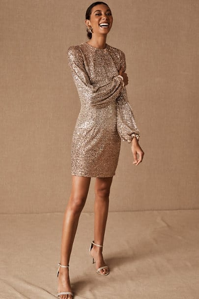 City Hall Wedding Dresses Sequin Sparkling Dress Courthouse Bridal Outfits BHLDN