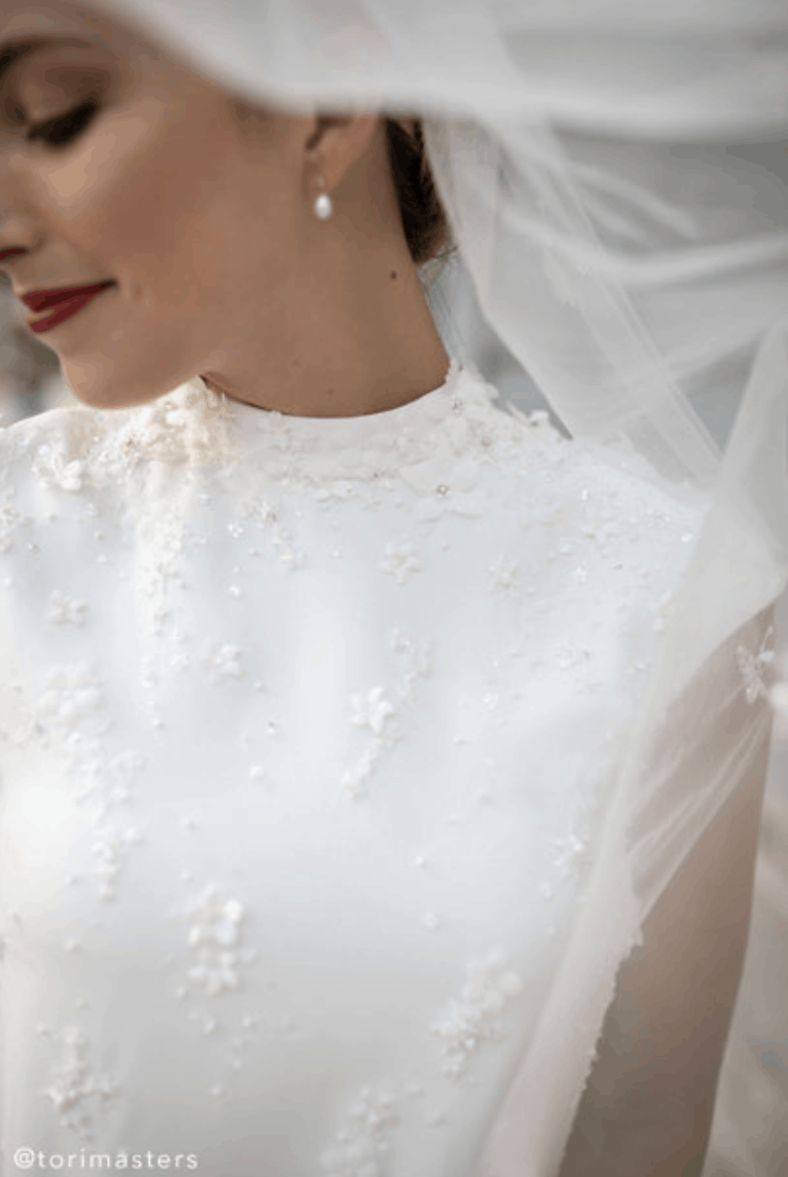 Courthouse Bridal Outfits BHLDN Tori Masters Whispers Echoes Roma Gown