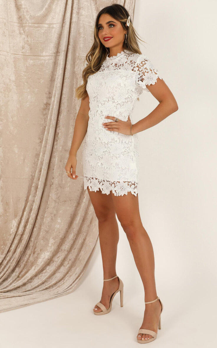 Courthouse Wedding Dress City Hall Outfits Online White Lace Dress Showpo