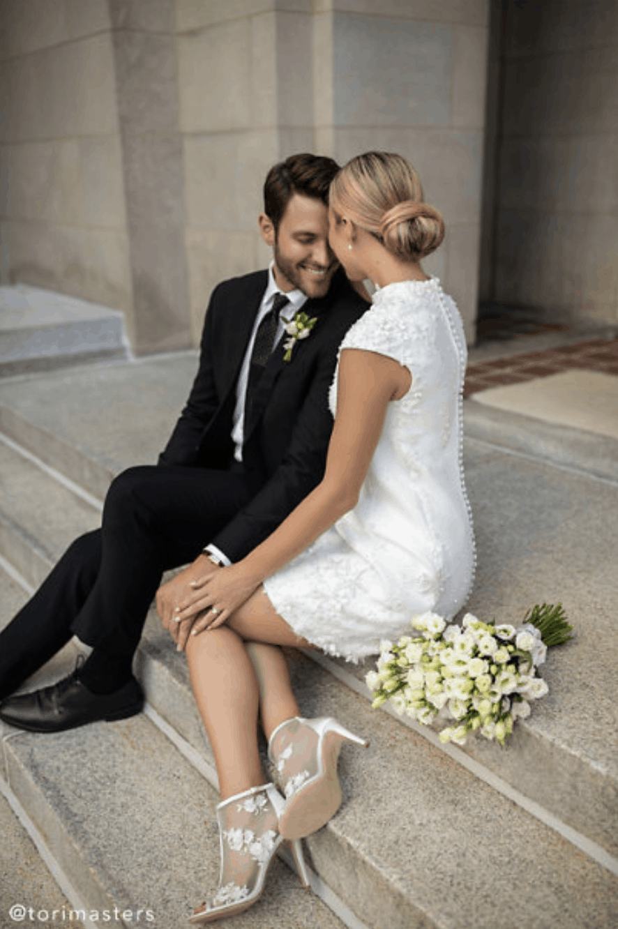 Courthouse Wedding Dresses BHLDN Tori Masters Whispers Echoes Roma Gown