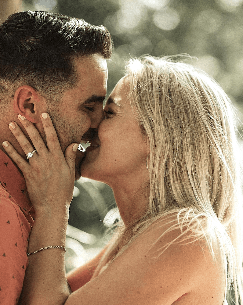Cute Proposal Ideas Asheville Wedding Photographer Diamond Engagement and Wedding Rings James Allen Ring