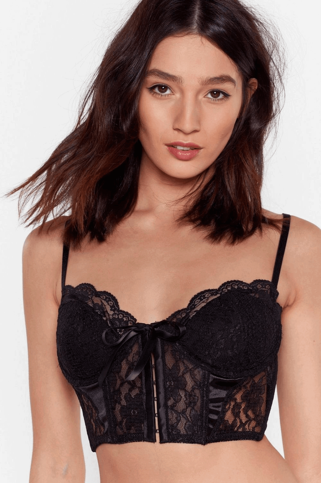 DIY Bridal Shower Gift for the Bride Signals of Love Lace Longline Bralette