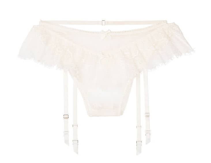 DIY Bridal Shower Gift for the Bride Victorias Secret White Lace Panties High-rise Open Itsy Panty