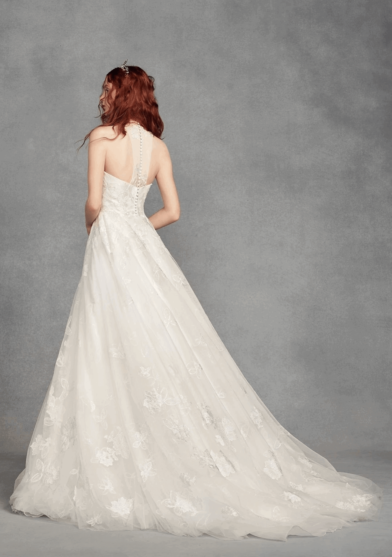 Designer Wedding Dresses Online Bridal Gowns Cheap Affordable Vera Wang White Illusion Floral