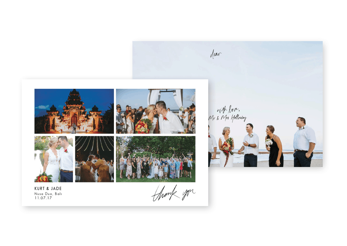 Destination Wedding Thank You Cards with Photos For the Love of Stationery Kleio Photography
