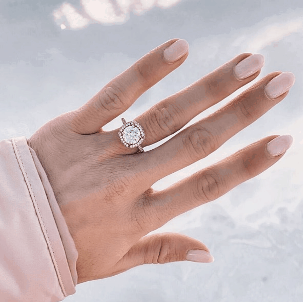 Diamond Engagement and Wedding Rings Romantic Winter Snowy Proposal Ideas James Allen Ring