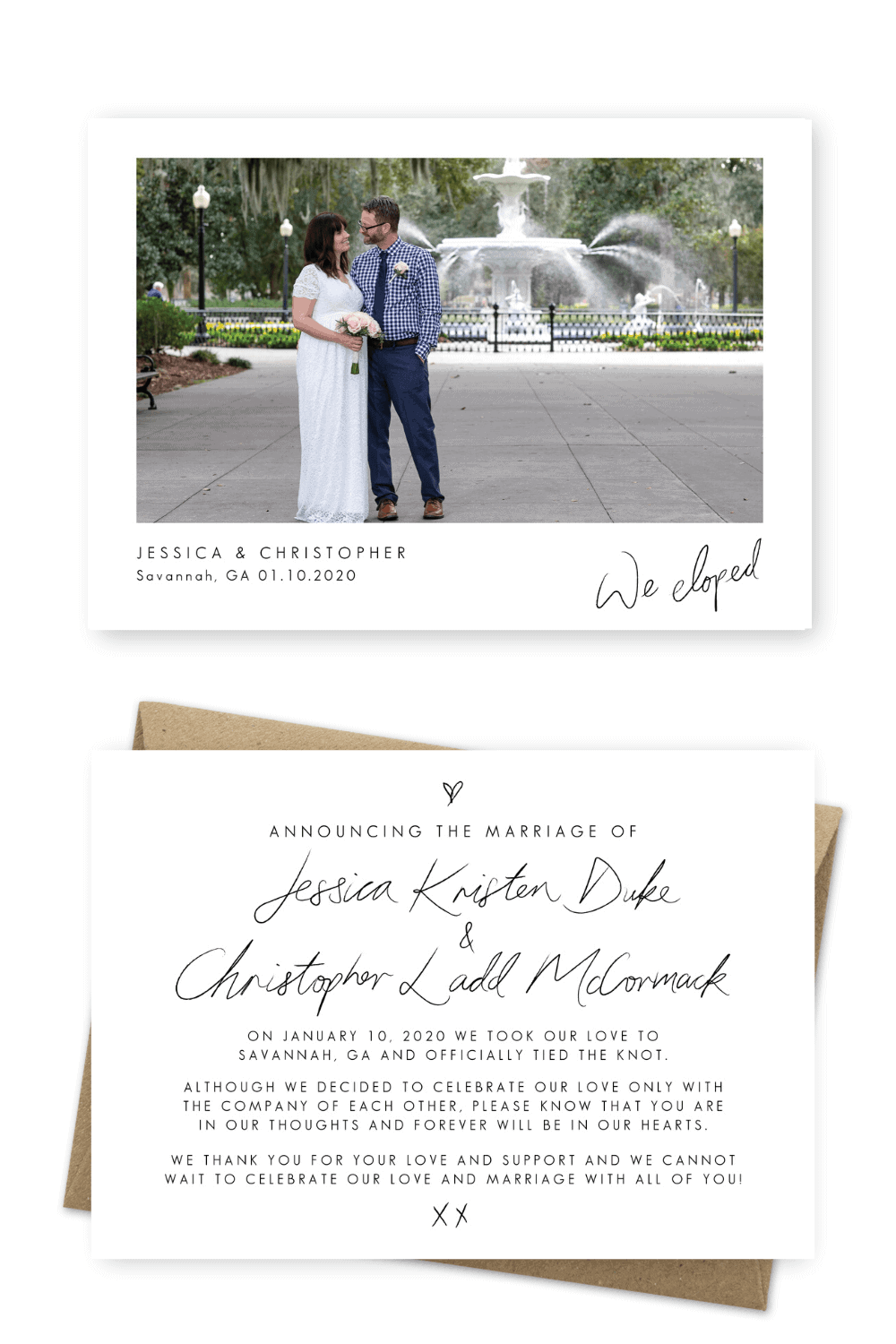 Elopement Announcement Ideas Simple Wording Examples Dreamweaver Photos For the Love of Stationery (1)