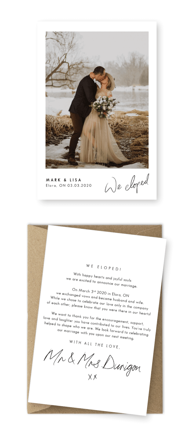 Elopement Announcement Wording Ideas For the Love of Stationery Ally Billings Photography