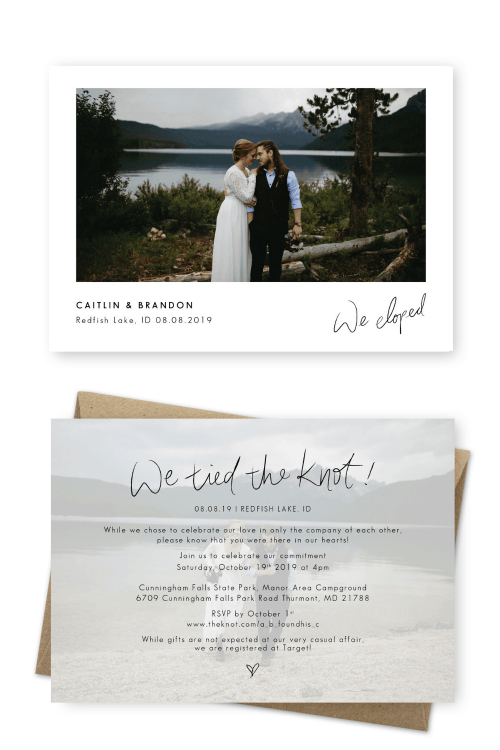 Elopement Announcement Wording Ideas and Examples For the Love of Stationery Christine Marie Photography