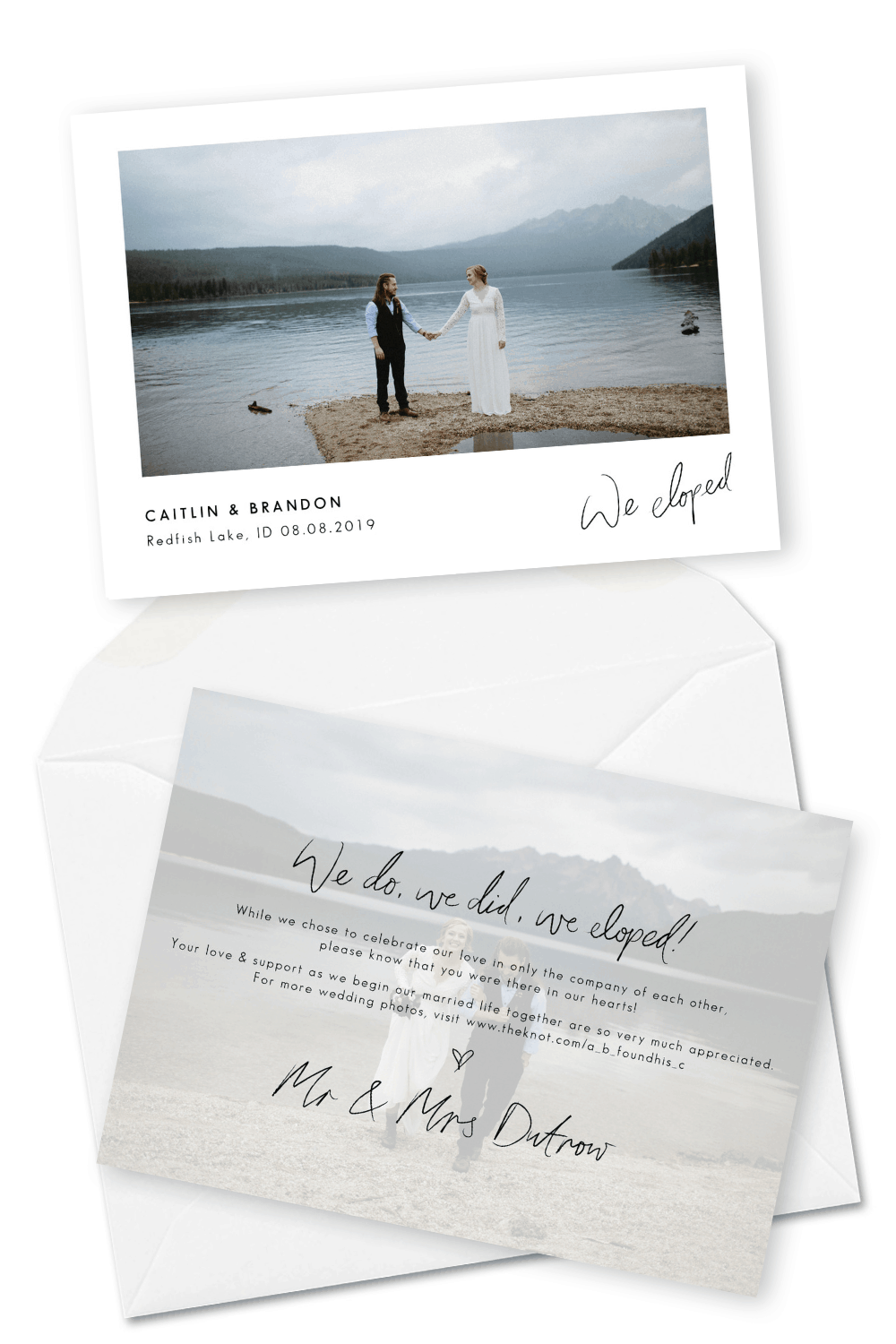 Elopement Announcement Wording Ideas and Examples For the Love of Stationery Christine Marie